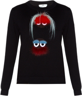 Fendi Bag Bugs fur-embellished sweater