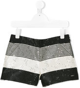 Karl Lagerfeld striped sequined shorts