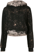 Cotton Citizen distressed cropped hoodie - women - Cotton - XS