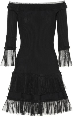 Jonathan Simkhai Tulle-trimmed knitted dress