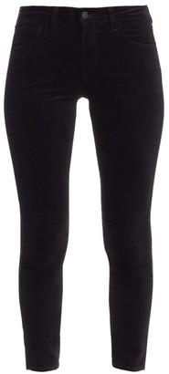L'Agence Margot High-Rise Ankle Skinny Velvet Jeans