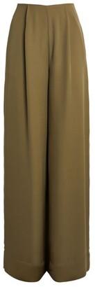 Roland Mouret Silk Georgette Kennal Wide-Leg Trousers