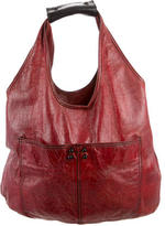 3.1 Phillip Lim Distressed Glazed Leather Hobo