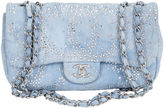 One Kings Lane Vintage Chanel Rhinestone & Denim Flap Bag