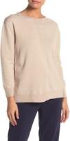 Catherine Malandrino Seam Front Split Hem Sweater (Petite)
