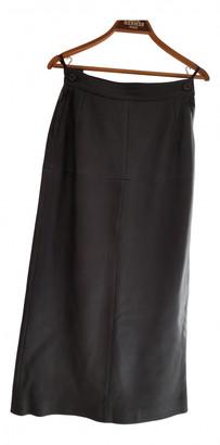 Hermes Brown Leather Skirts