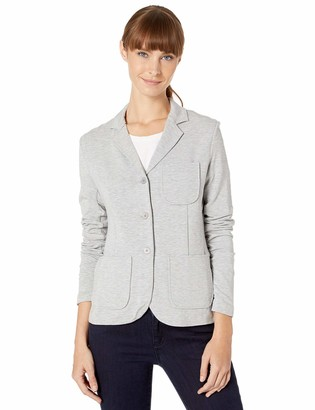 Majestic Filatures Women's French Terry 3-Button Blazer with 3 Pockets