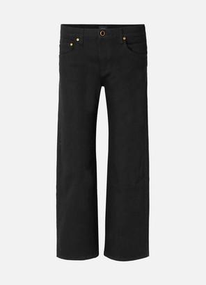 KHAITE Wendell Cropped High-rise Wide-leg Jeans - Black