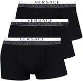 Versace 3-Pack Titan Low-Rise Men's Boxer Trunk, Black Medium