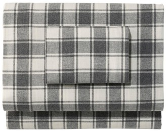 L.L. Bean Ultrasoft Comfort Flannel Sheet Set, Check