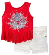 Jessica Simpson Fringe Knit Top & Frayed Short Set - 2-Piece Set (Baby Girls)
