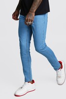 boohoo Mens Blue Skinny Jeans, Blue