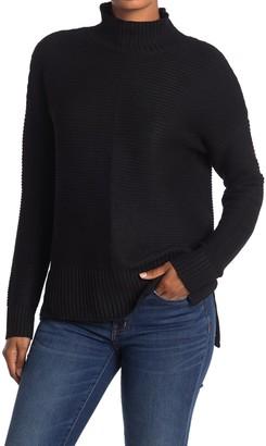Sweet Romeo Mock Neck Cool Girl Tunic Sweater