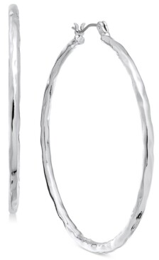 """Style&Co. Style & Co Medium Hammered Hoop Earrings, 2"""", Created for Macy's"""