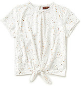 7 For All Mankind Big Girls 7-16 Printed Tie-Front Short-Sleeve Tee