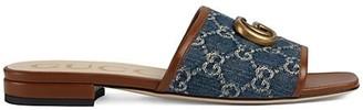 Gucci Jolie Denim Flats Sandals