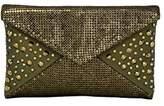Whiting & Davis Metal Mesh Sparkling Envelope with Crystals Top Handle Bag
