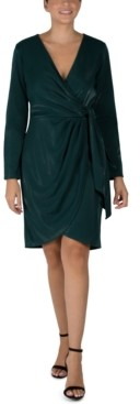 Julia Jordan Scuba Faux-Wrap Sheath Dress