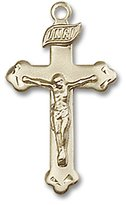 Blissliving Home Budded Gold-Filled Rosary Crucifix