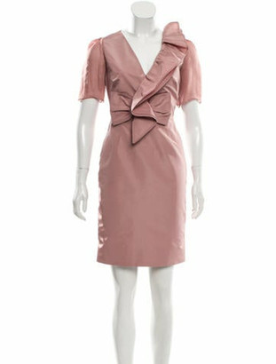 Valentino Silk-Blend Mini Dress Mauve