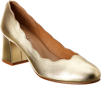 French Sole Trini Leather Pump