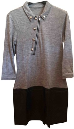 Hogan Grey Leather Dress for Women