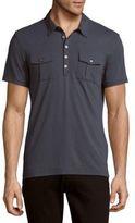 John Varvatos Solid Short Sleeve Polo Shirt