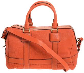 Loewe Orange Leather Amazona Satchel