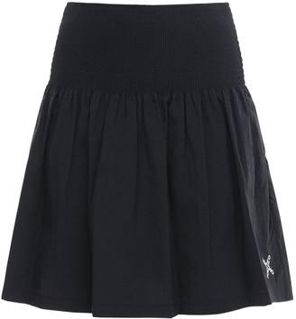 Kenzo Gathered Nylon Mini Skirt