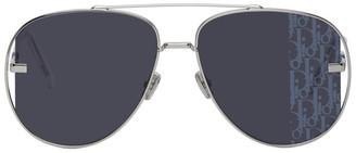 Christian Dior Silver DiorScale Sunglasses