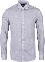 Boss Lukas Grey Graphic Print Long Sleeve Shirt
