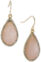 Carolee Gold-Tone Stone and Crystal Large Drop Earrings