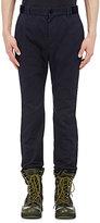 Sacai Men's Velvet-Trimmed Trousers-NAVY