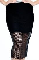 Plus Size Women's Elvi Fishnet Skirt