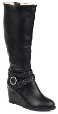 Journee Collection Garin Extra Wide Calf Wedge Boot