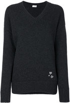 Saint Laurent heart pin knitted jumper - women - Cashmere - XS