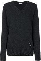 Saint Laurent heart pin knitted jumper