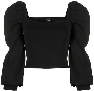 Pinko Puff Sleeve Ribbed Jersey Top