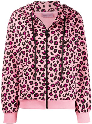 Chiara Ferragni Leopard Print Hoodie