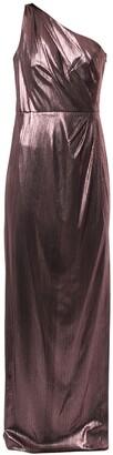 Marchesa Metallized One-Shoulder Dress