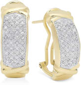 Townsend Victoria Rose-Cut Diamond X-Hoop Earrings (1/2 ct. t.w.) in 18k Gold over Sterling Silver or Sterling Silver