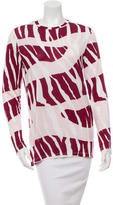 Prabal Gurung Long Sleeve Printed Top w/ Tags