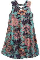 My Michelle Girls 7-16 Button Front Printed Trapeze Dress