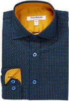 Isaac Mizrahi Premium Polka Print Shirt (Toddler, Little Boys, & Big Boys)