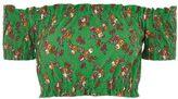 Topshop Floral gypsy crop top