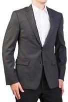 Prada Men's Virgin Wool Silk Two-button Sport Coat Jacket Black Polka Dotted.