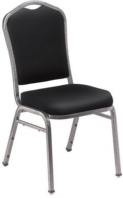 Banquet Chair National Public Seating Seat Finish: -Black, Frame Finish: Silvervein