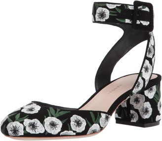 Loeffler Randall Women's Cami Round-Toe Pump (Suede/Embroidery)