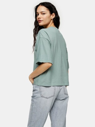 Topshop Panel Boxy T-shirt - Mint