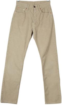 Levi's 501 Beige Cotton Jeans